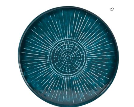 Bandeja De Metal Y Hierro Reciclado Azul Anadia