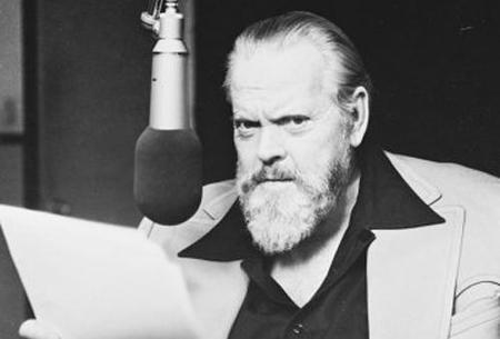 Orson Welles grabando