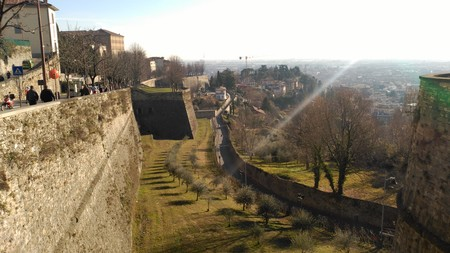 Mirador murallas Bérgamo