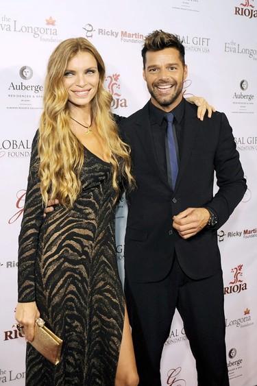 De repente, una extraña: Esther Cañadas posa junto a Ricky Martin en la Global Gift Foundation Gala