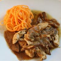 Guisado de pollo con hongos, la mejor receta de pollo en salsa