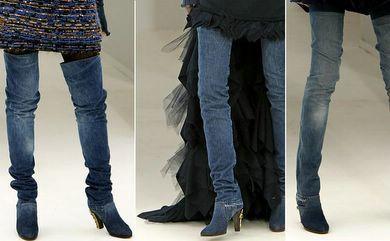 Chanel, denim en alta costura