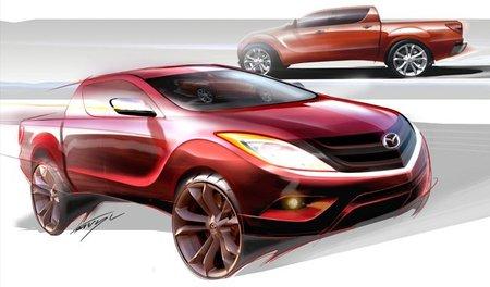 Nuevo Mazda BT-50, primera imagen en forma de boceto