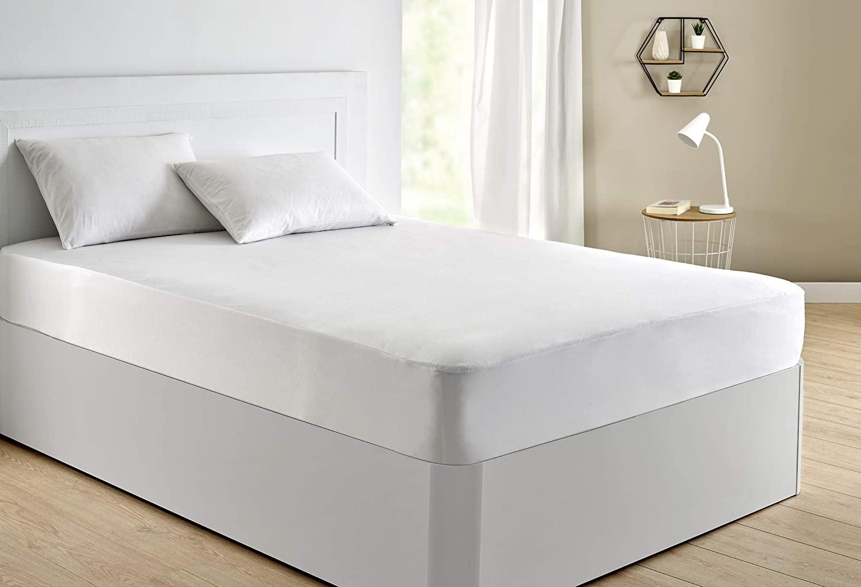 Pikolin Home - Protector de colchón punto, 100% algodón, impermeable y transpirable, 105x190/200cm-Cama 105 (Todas las medidas)
