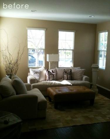 Antes y después: un salón actualizado con aires rústicos