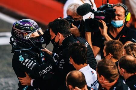 Hamilton Wolff Mercedes Imola F1 2020