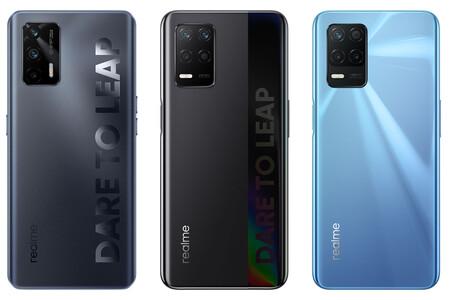 Realme Q3, Q3i y Q3 Pro: móviles 5G con gran batería, pantallas a 120 Hz y muy baratos