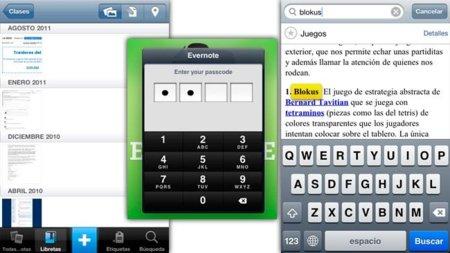 Nuevas funcionalidades de Evernote para iOS: bloqueo por código, buscar dentro de nota y vista de diapositivas