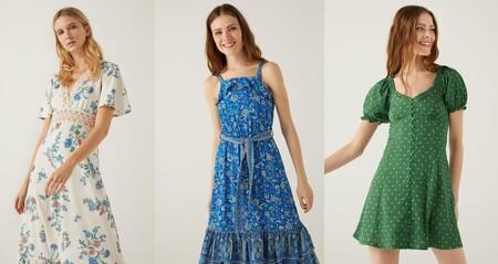 Vestidos primaverales rebajados hasta un 30% en Springfield desde 15,99 euros
