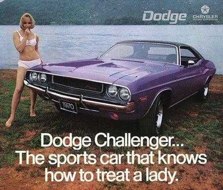 Anuncio del Dodge Challenger en 1970