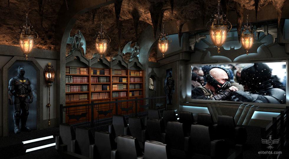 Foto de Salas de cine en casa espectaculares: la batcueva (1/4)