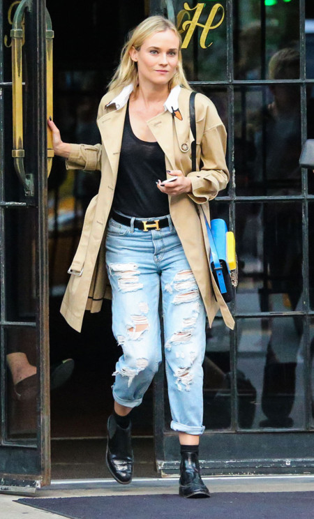 look calle diane kruger jeans rotos