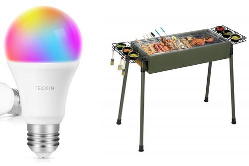 Cupones de descuento en Amazon:  bombillas LED inteligentes Teckin, barbacoas Uten y taladros Tacklife rebajados