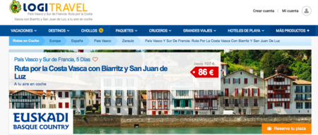 Ruta a tu aire por País Vasco y sur de Francia desde 86 euros en Logitravel