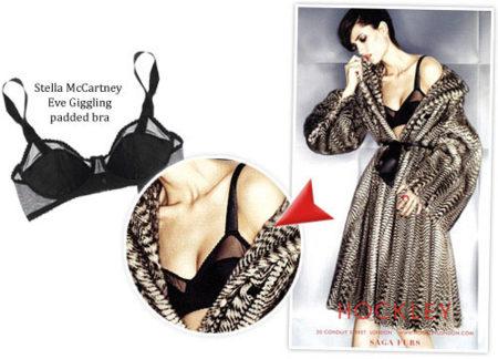 La lencería de Stella McCartney en un anuncio con pieles