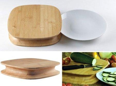 Chop, cómoda tabla de cortar de Alessi