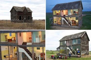 Casas poco convencionales: una casa de muñecas tamaño natural