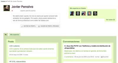 Xataka destapa una nueva página de usuario