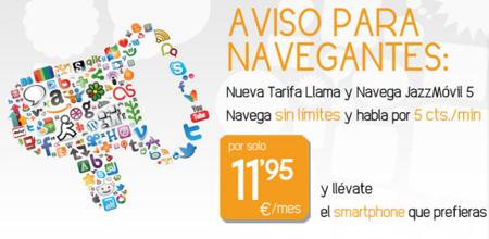 Jazztel Móvil lanza una nueva tarifa móvil para hablar y navegar con pago por minuto