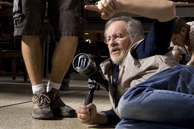 Steven Spielberg rodando una película