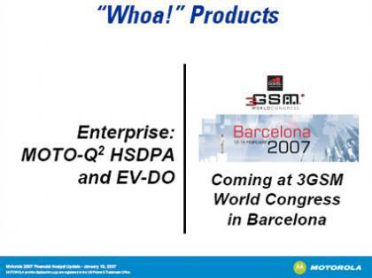 Motorola Q2 en el 3GSM de Barcelona