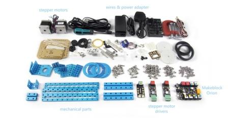 Estas son las piezas incluidas en mDrawBot