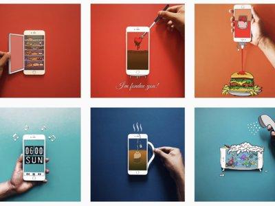 Nadie imaginaba que un iPhone pudiera servir como lienzo de increíbles ilustraciones