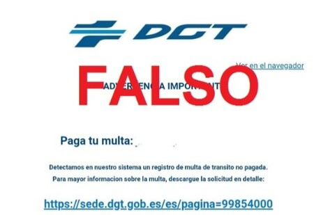La DGT alerta de una nueva oleada de correos fraudulentos que usan una supuesta multa de tráfico como reclamo