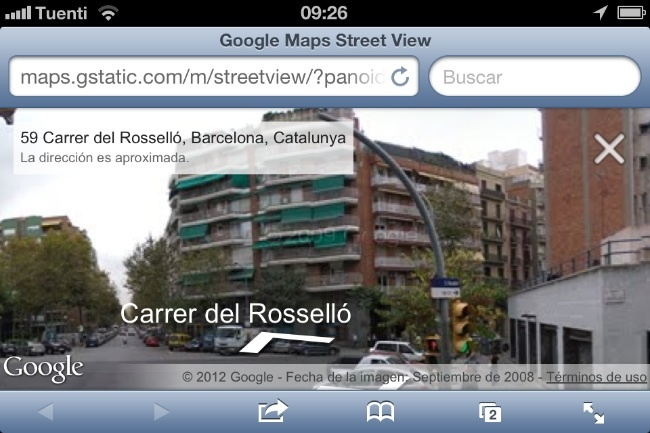 google maps street view ios navegador web