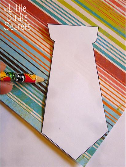 Paso a paso tarjeta corbata amarilla