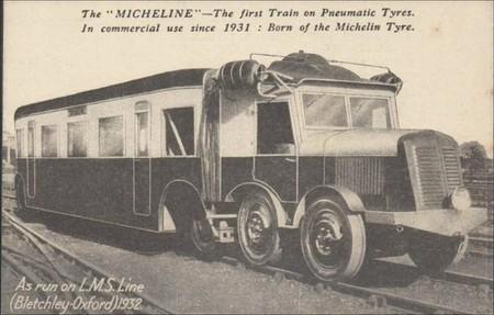 Entre el tren de Michelin y el BMW Serie 2 Active Tourer pillado. Rueda por Twitter (13)