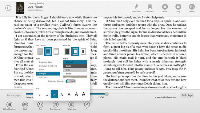 nook, versión para Windows 8