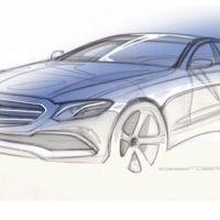 Aquí lo tienes, el nuevo Mercedes-Benz Clase E en su sketch definitivo previo a Detroit
