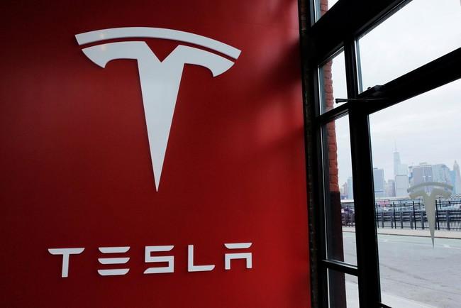Tesla Logo New York Store