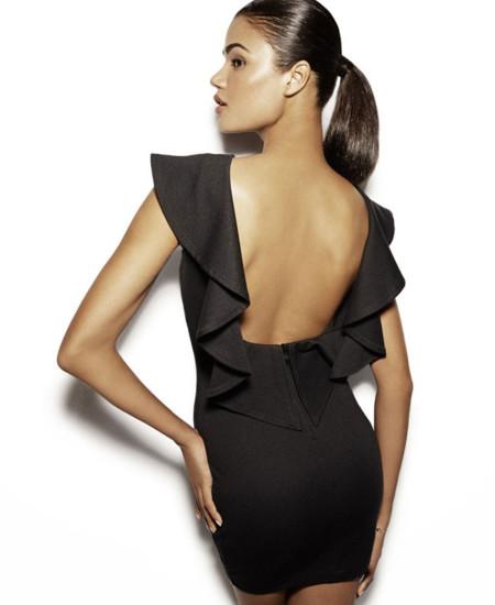 Vestido negros espalda al aire SuiteBlanco colección Otoño-Invierno 2013/2014