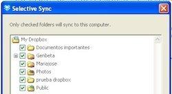 Sincronización selectiva en Dropbox, por fin