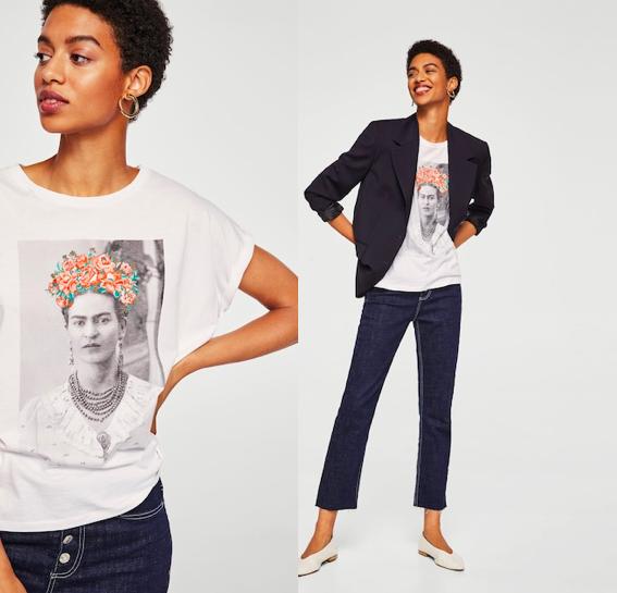 cinco camisetas y un vestido de Frida Kahlo que puedes comprarte si se  agota la de Primark 7768f2549e93d