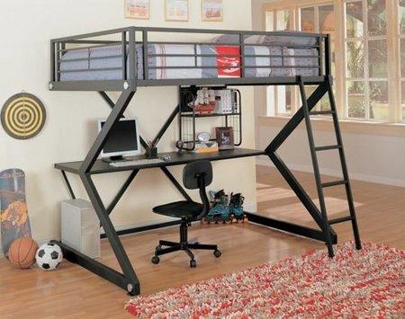 dormitorio compacto metal