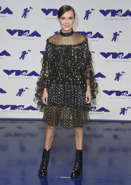 mtv vma video music awards 2017 alfombra roja red carpet millie bobby brown