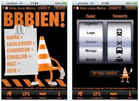 BBBien, aplicación para iPhone del transporte público español