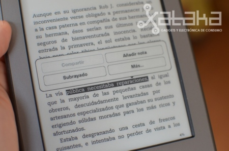 Nuevo kindle touch análisis