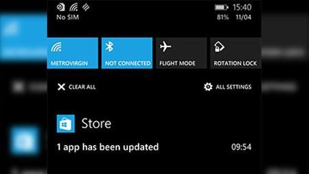 Más rumores indican la llegada del centro de notificaciones al escritorio con Windows Threshold