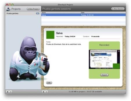 Silverback, te ayuda a hacer tests de usabilidad