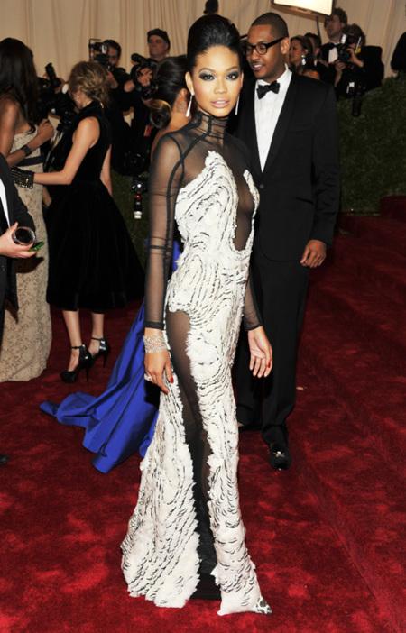 Chanel Iman met 2012