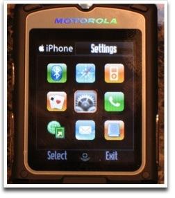 Skin del iPhone para Motorola RAZR