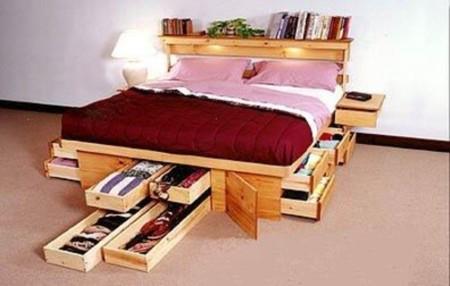 Una cama muy ordenada