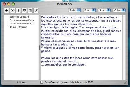 MemoBlock: Un pequeño y útil bloc de notas mejorado