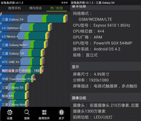 Un benchmark revela un Exynos Octa y una GPU PowerVR SGX 544MP en el Samsung Galaxy SIV