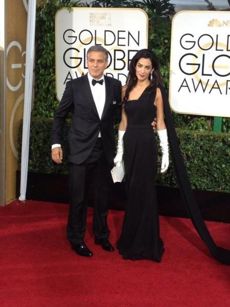 Amal Alamuddin de Dior en los Globos de Oro 2015