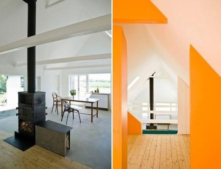 casa sueca chimenea